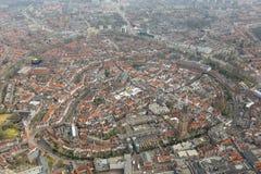Vue aérienne de centre historique d'Amersfoort Images stock