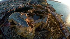 Vue aérienne de château Alicante Images libres de droits