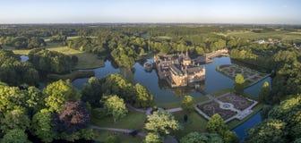 Vue aérienne de château d'Anholt Photo stock