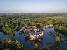 Vue aérienne de château d'Anholt Photographie stock libre de droits