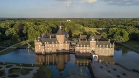 Vue aérienne de château d'Anholt Photos libres de droits