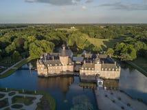 Vue aérienne de château d'Anholt Image stock