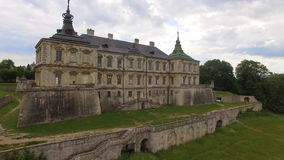 Vue aérienne de château de Pidhorodetsky dans la région de Lviv, Ukraine banque de vidéos