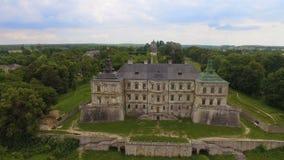 Vue aérienne de château de Pidhorodetsky dans la région de Lviv, Ukraine clips vidéos