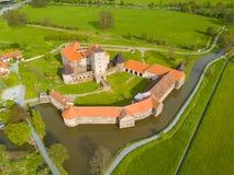 Vue aérienne de château de Svihov Photos stock
