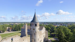Vue aérienne de château de Haapsalu, Estonie Images stock
