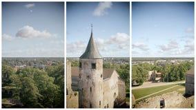 Vue aérienne de château de Haapsalu, Estonie Image libre de droits