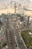 Vue aérienne de Changhaï Pudong Images libres de droits