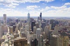 Vue aérienne de Chicago Image libre de droits