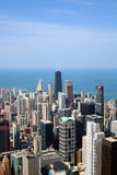 Vue aérienne de Chicago   Photographie stock libre de droits