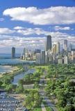 vue aérienne de Chicago l'Illinois Image stock