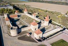 Vue aérienne de cintreuse de Bendery ; Forteresse de Tighina Ottoman, République moldavienne non reconnue le Transnistrie de Prid images stock