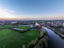 Vue aérienne de club de cricket du comté de Worcestershire Images libres de droits