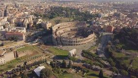 Vue aérienne de Colosseum banque de vidéos