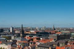 Vue aérienne de Copenhague au Danemark photo stock