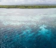 Vue aérienne de Coral Reef en parc national de Wakatobi Image libre de droits