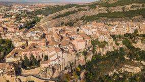 Vue aérienne de Cuenca image stock