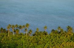 Vue aérienne de cuisinier Islands de lagune d'Aitutaki Photographie stock libre de droits