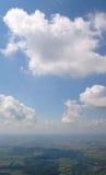 Vue aérienne de cumulus photos stock