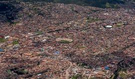 Vue aérienne de Cusco, Pérou Image stock