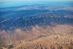 Vue aérienne de Cuyama River Valley, San Rafael Wilderness, Santa Ynez Valley images stock