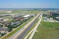 Vue aérienne de Dallas image libre de droits