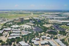 Vue aérienne de Dallas photos libres de droits
