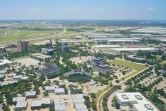 Vue aérienne de Dallas Photographie stock