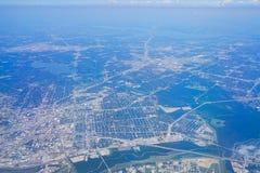 Vue aérienne de Dallas Downtown Images stock