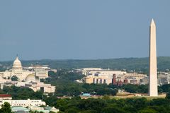 Vue aérienne de DC de Washington photo stock