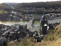 Vue aérienne de Dinant (Belgique) Photo libre de droits