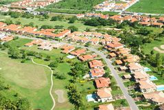 Vue aérienne de district résidentiel images libres de droits