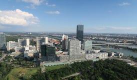 Vue aérienne de Donaucity à Vienne Autriche Photo stock