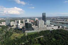 Vue aérienne de Donaucity à Vienne Autriche Photographie stock