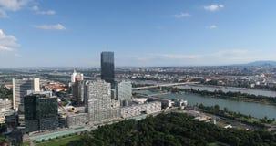 Vue aérienne de Donaucity à Vienne Autriche Image stock