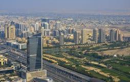 Vue aérienne de Dubaï du centre Images libres de droits