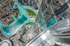 Vue aérienne de Dubaï du centre, EAU photographie stock libre de droits