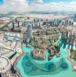Vue aérienne de Dubaï (Emirats Arabes Unis) Images stock