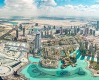 Vue aérienne de Dubaï (Emirats Arabes Unis) Image stock