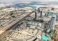 Vue aérienne de Dubaï (Emirats Arabes Unis) Photos libres de droits
