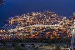 Vue aérienne de Dubrovnik Images libres de droits