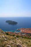 Vue aérienne de Dubrovnik Photo stock