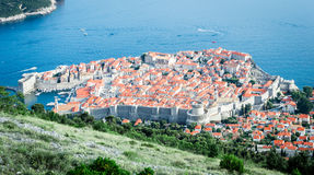Vue aérienne de Dubrovnik Raguse Photographie stock