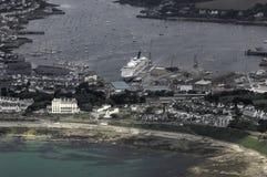 Vue aérienne de Falmouth Images libres de droits