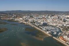 Vue aérienne de Faro Photographie stock libre de droits