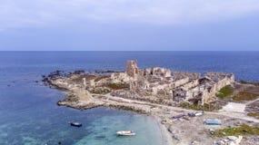 Vue aérienne de Favignana Photo stock