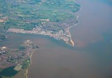 Vue aérienne de Felixstowe Photographie stock