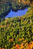 Vue aérienne de feuillage d'automne au Vermont photographie stock libre de droits