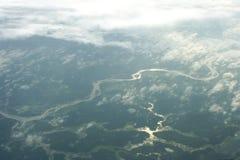 Vue aérienne de fleuve Photos stock