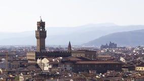 Vue aérienne de Florence banque de vidéos